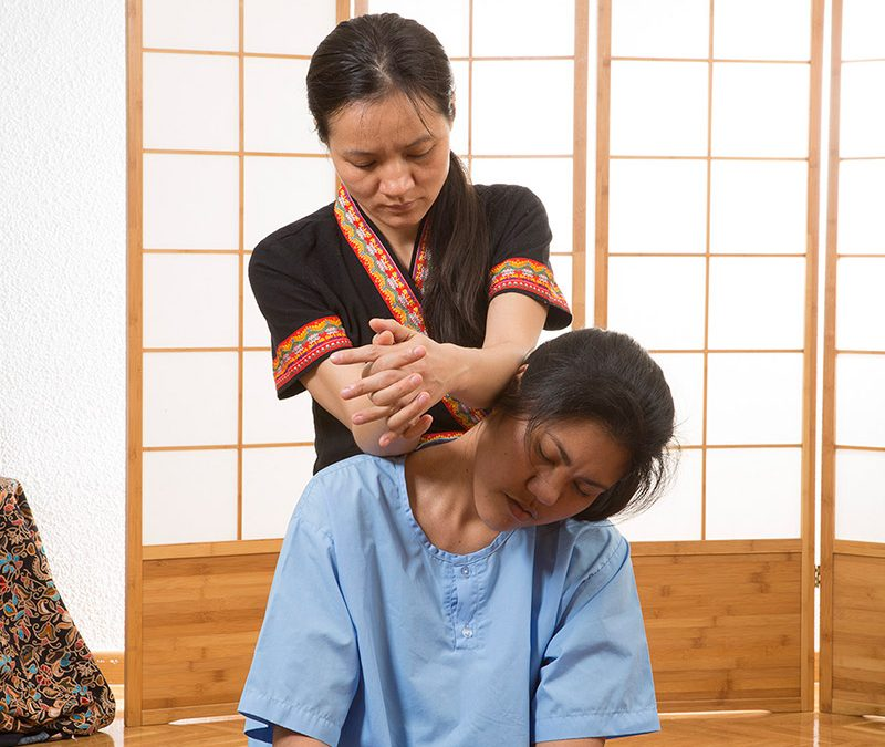 tecnica oriental de masaje en cuello